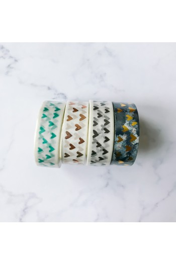 Washi Tape Corazones Mint