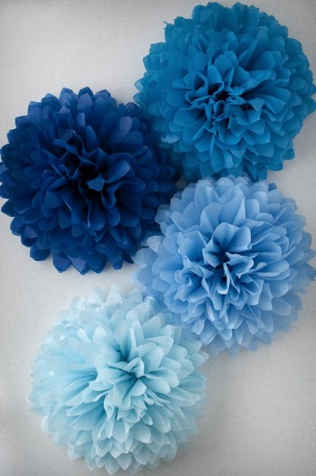 Pompon Bleu Ciel