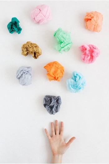 Papel de seda de colores