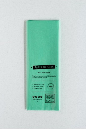 Papel de seda - Vert d'eau (mint)