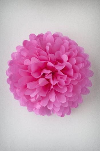 Pompon Rose Vif