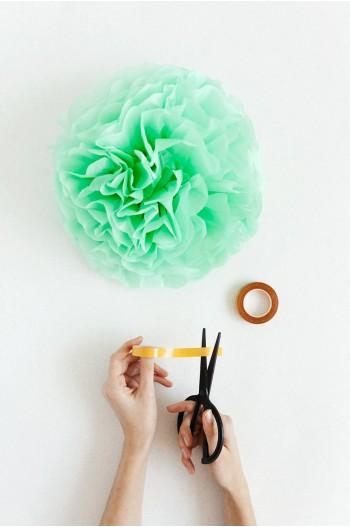 Pompon Vert d'eau (mint)