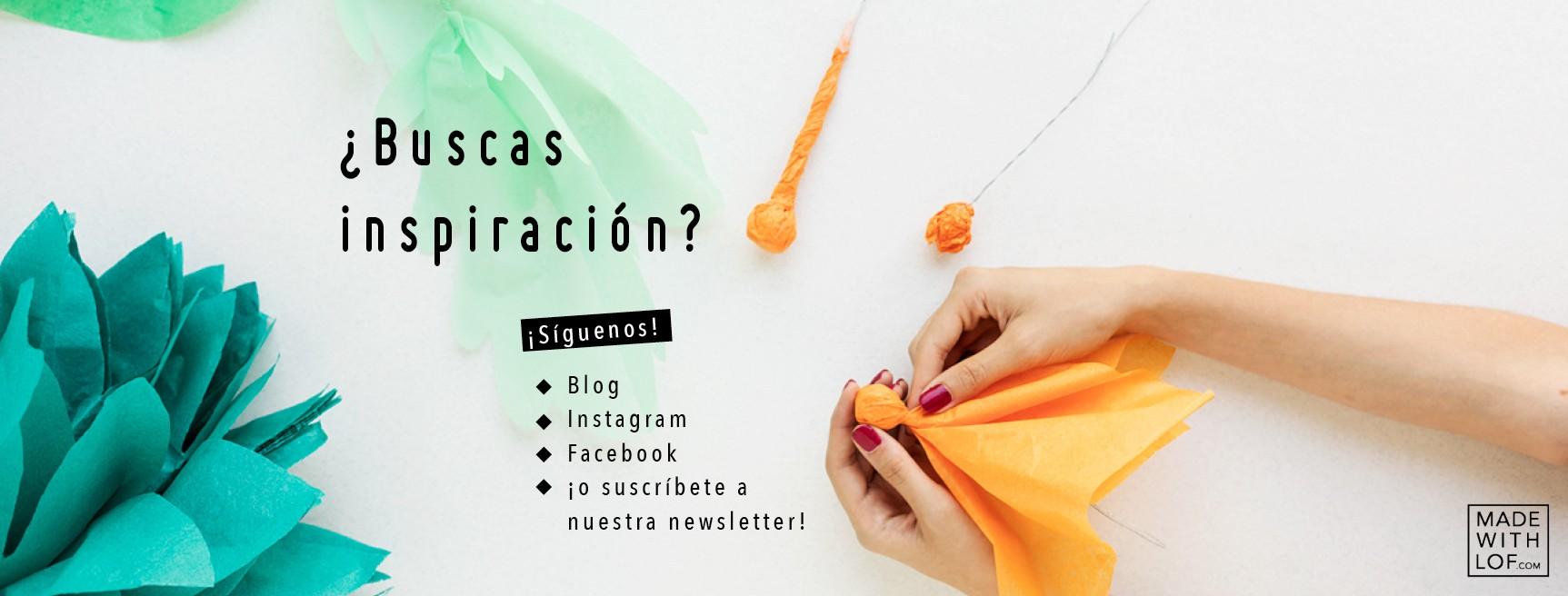 Suscríbete a la newsletter de Made with Lof